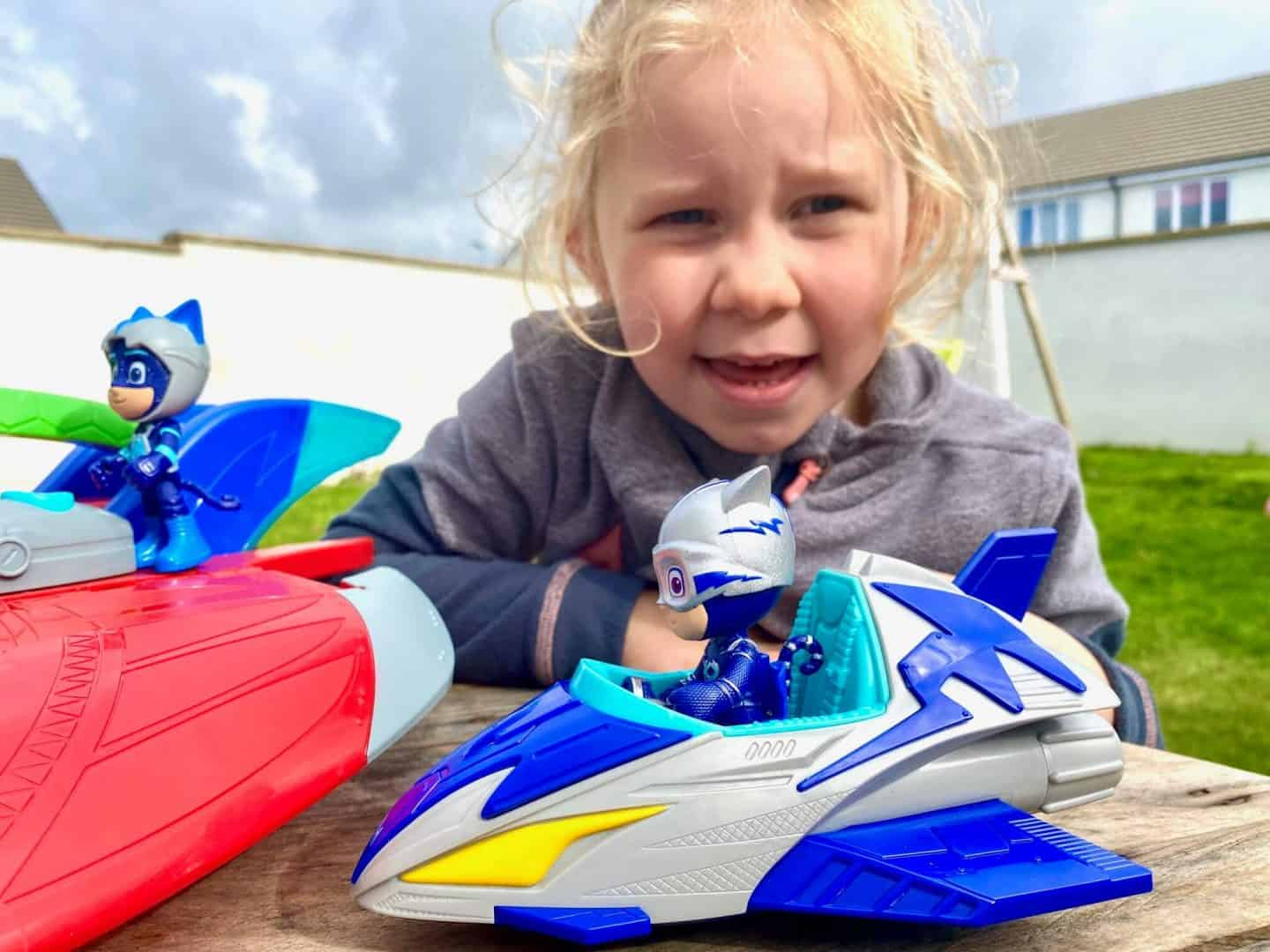 PJ Masks  Save the Sky Flying Hero Vehicle and Figure Set Review