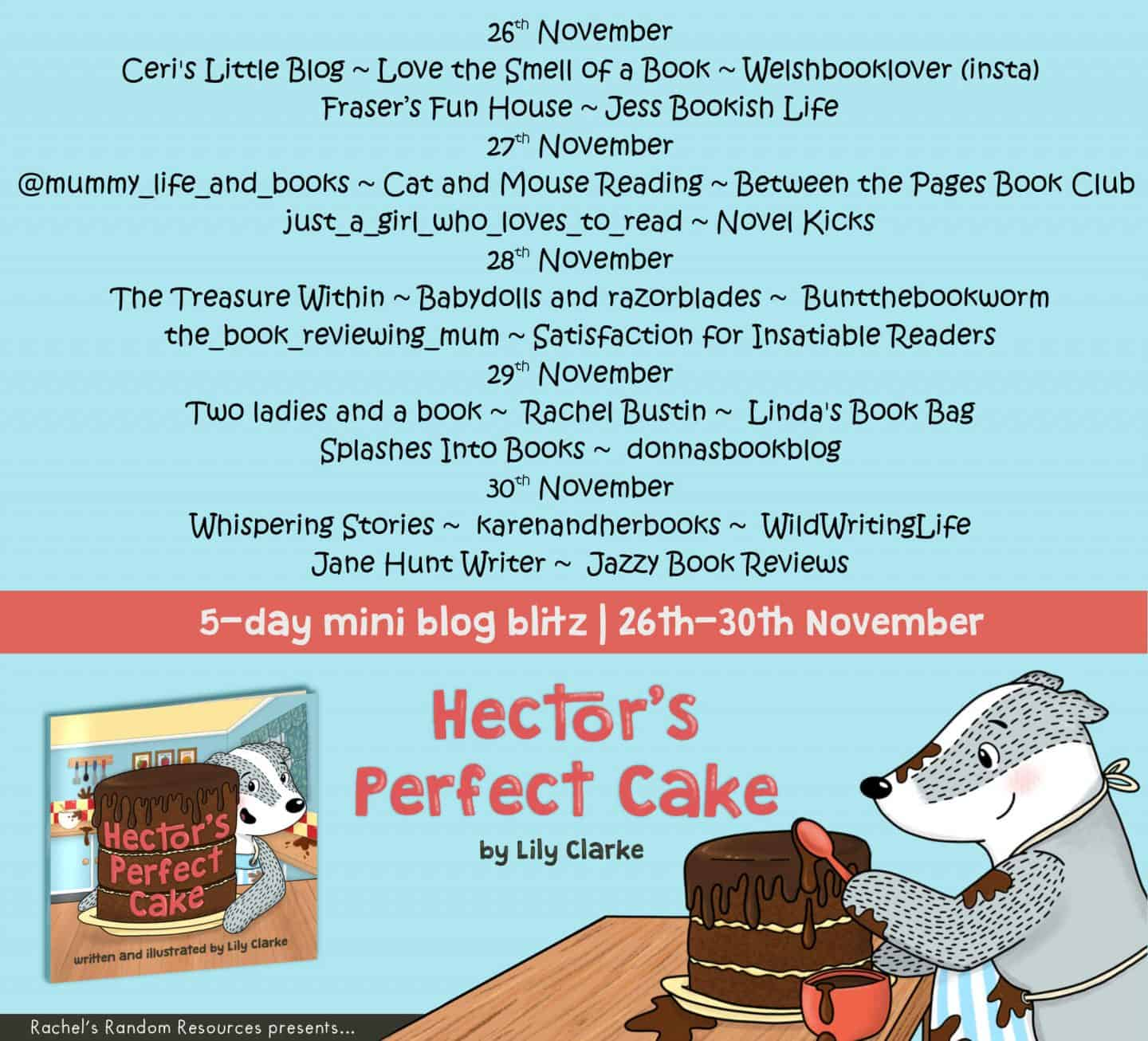 Hector's Perfect Cake blog tour