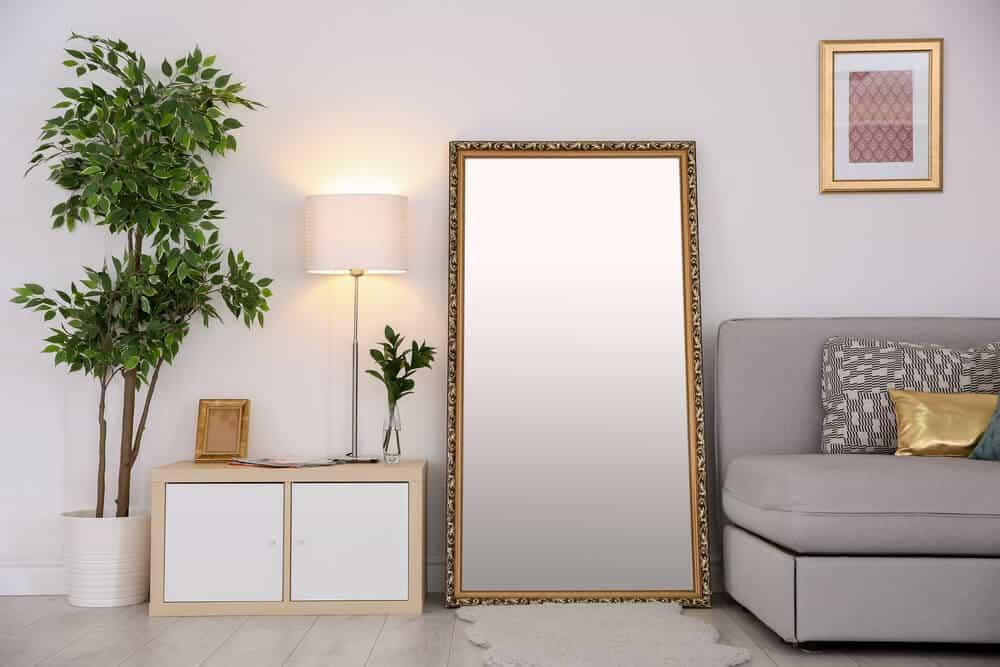 Mirror by Sofa