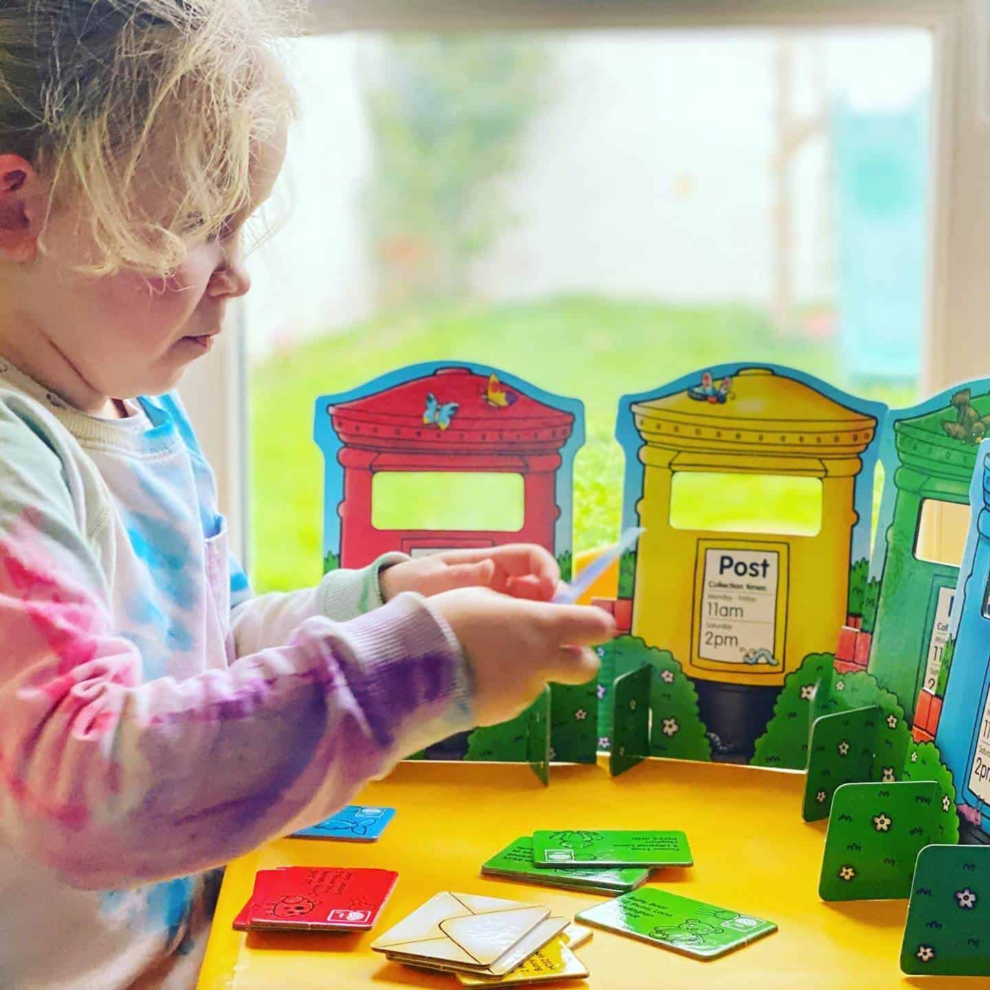 Playing the Post Box Game from Orchard Toys