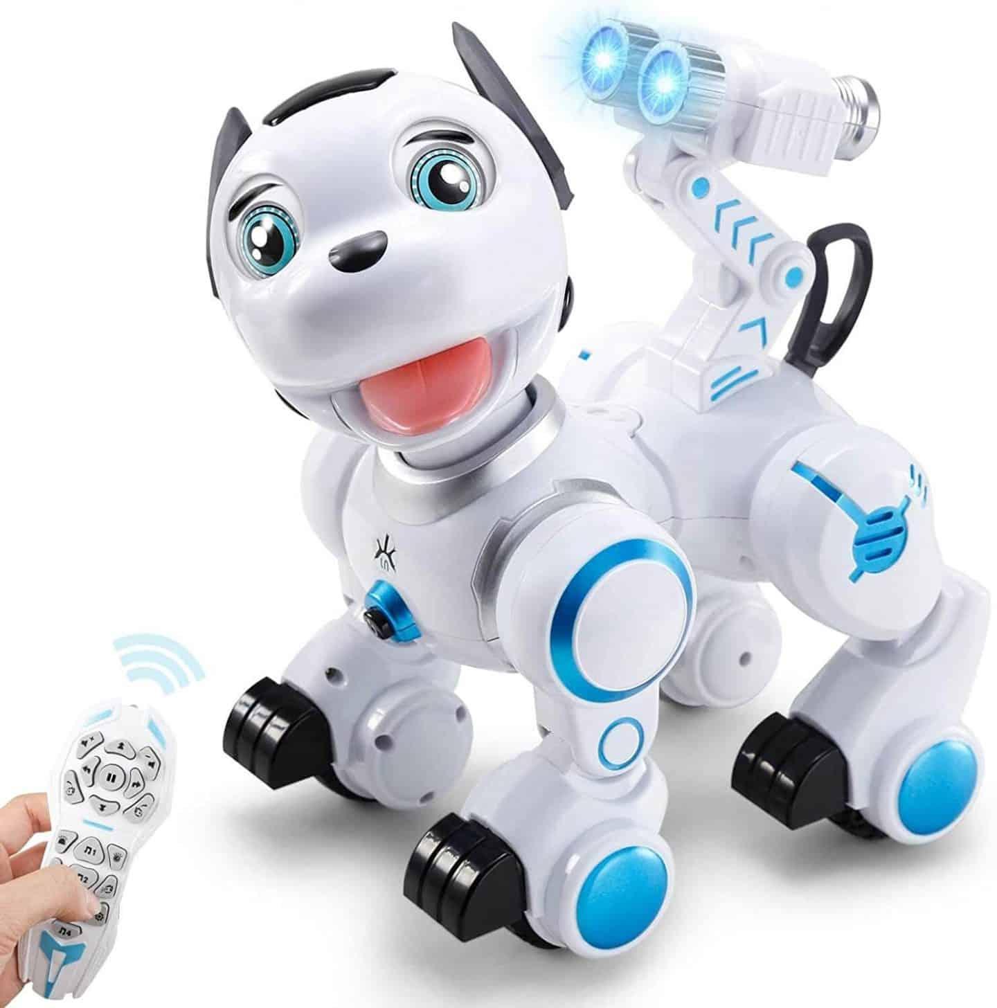 RC Robot Dog Toy - Smart Pet Dog Wink Bark Touch Sense Programmable Robot Toy