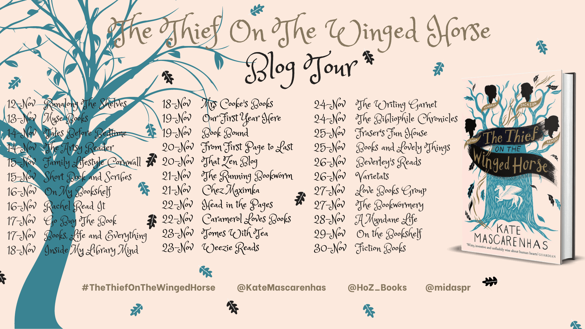 The Thief On The Winged Horse by Kate Mascarenhas - blog tour