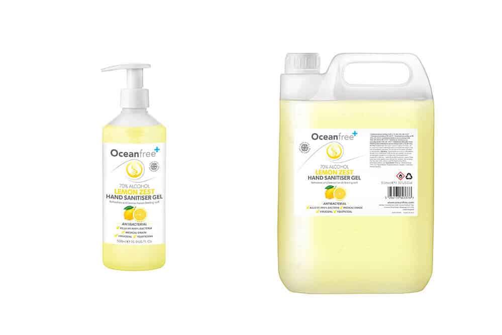 Lemon zest hand sanitizer