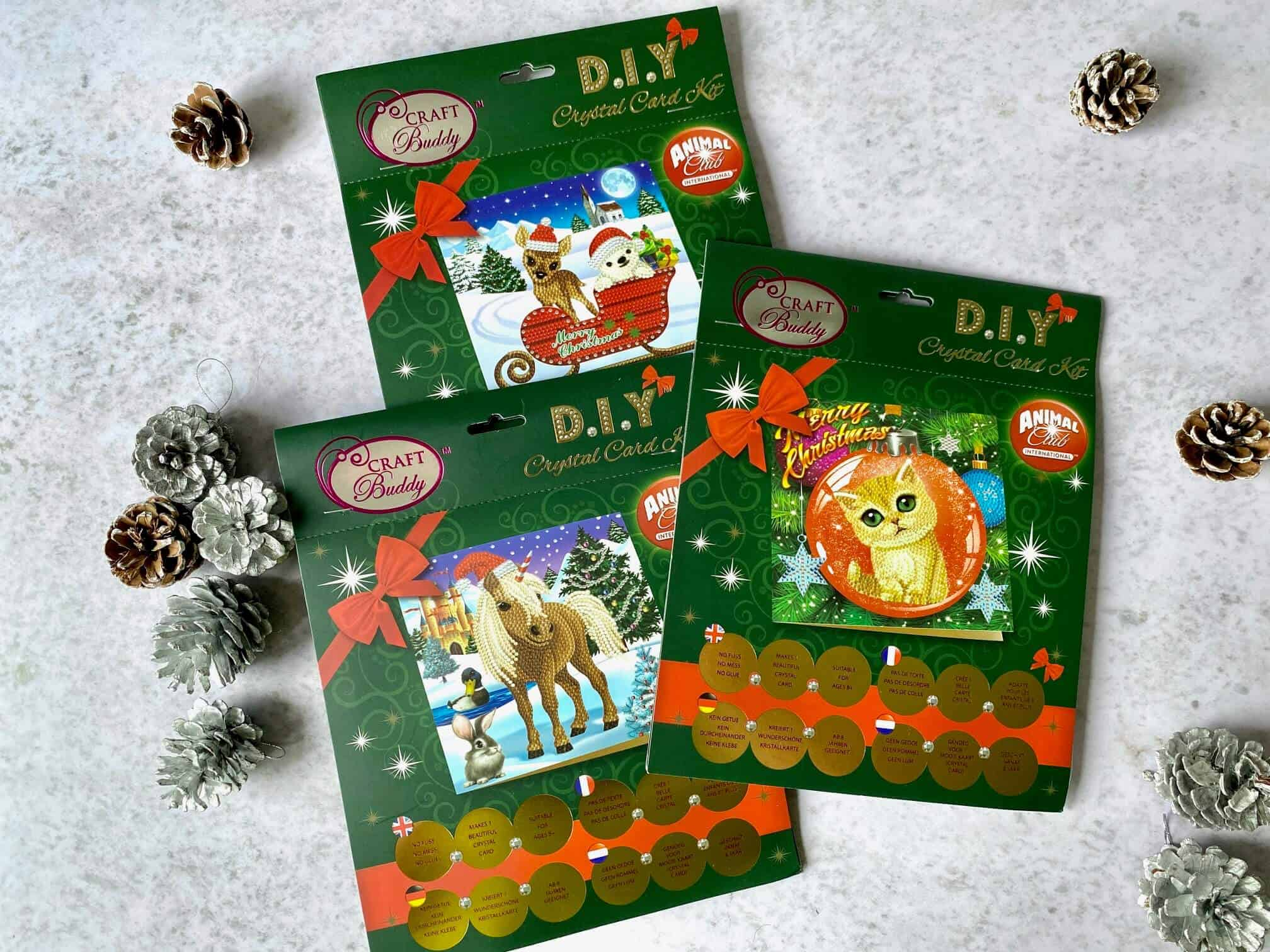 3 DIY Crystal Card Kits from Craft Buddy
