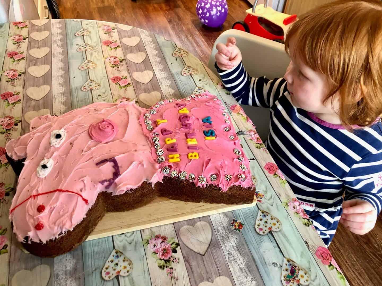 Little Dottie's 2nd Birthday April 2020 - Homemade Peppa Pig Cake