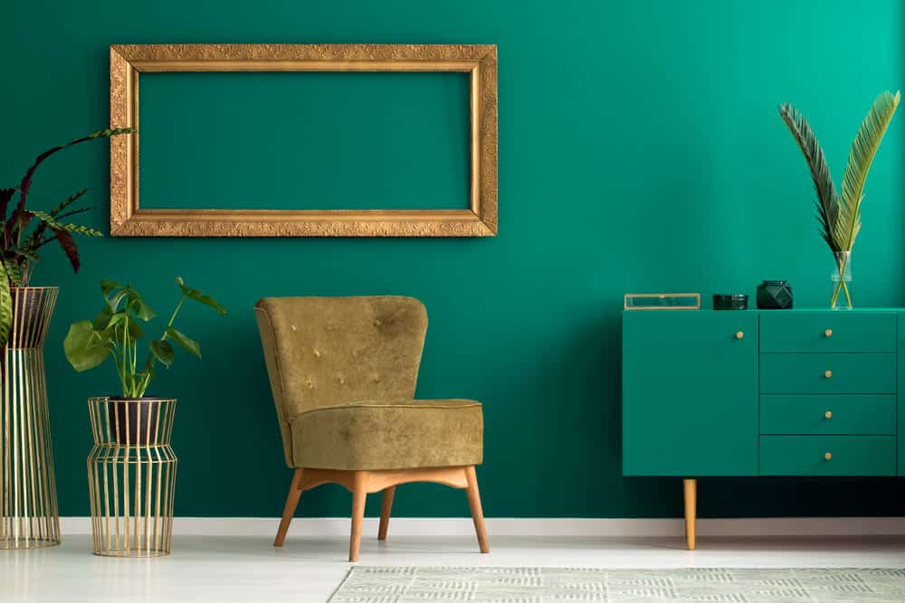 teal, livens up a room and makes paneling look great.